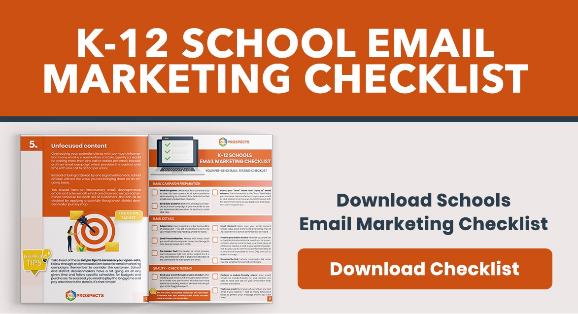 CTA K-12 Schools Email Marketing Checklist Report