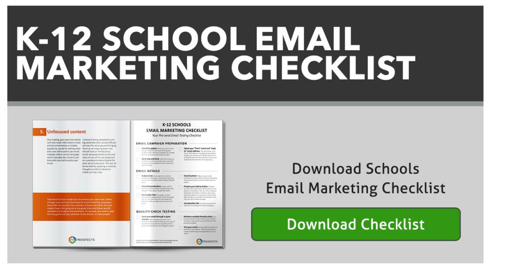 CTA-K-12 Schools Email Marketing Checklist