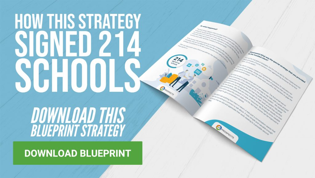 Blueprint Strategy - How this strategy signed 214-schools