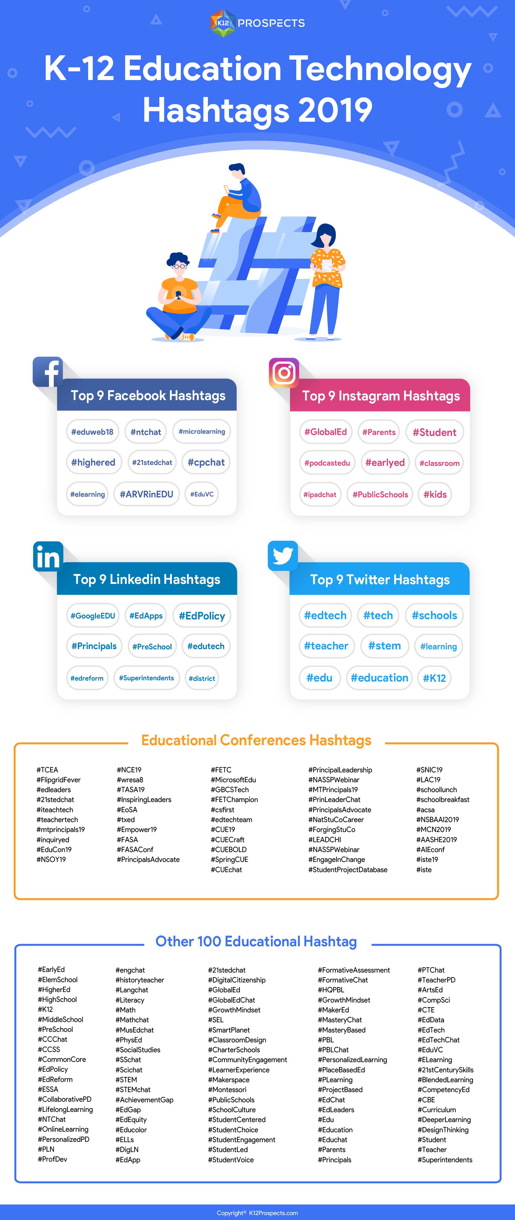 K-12 Education Technology Hashtags 2019