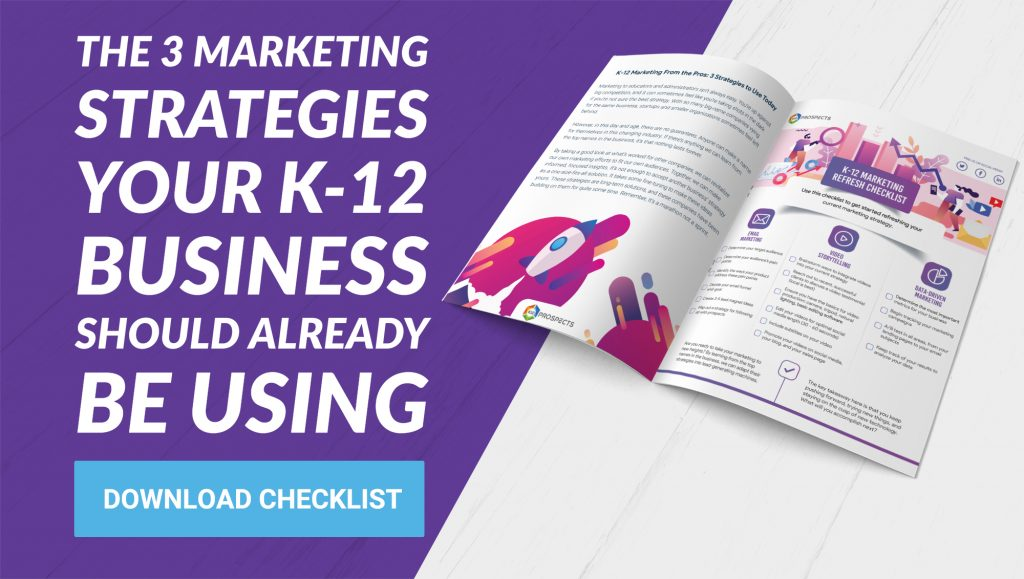 CTA - The 3 marketing strategies your k-12 business should already be using