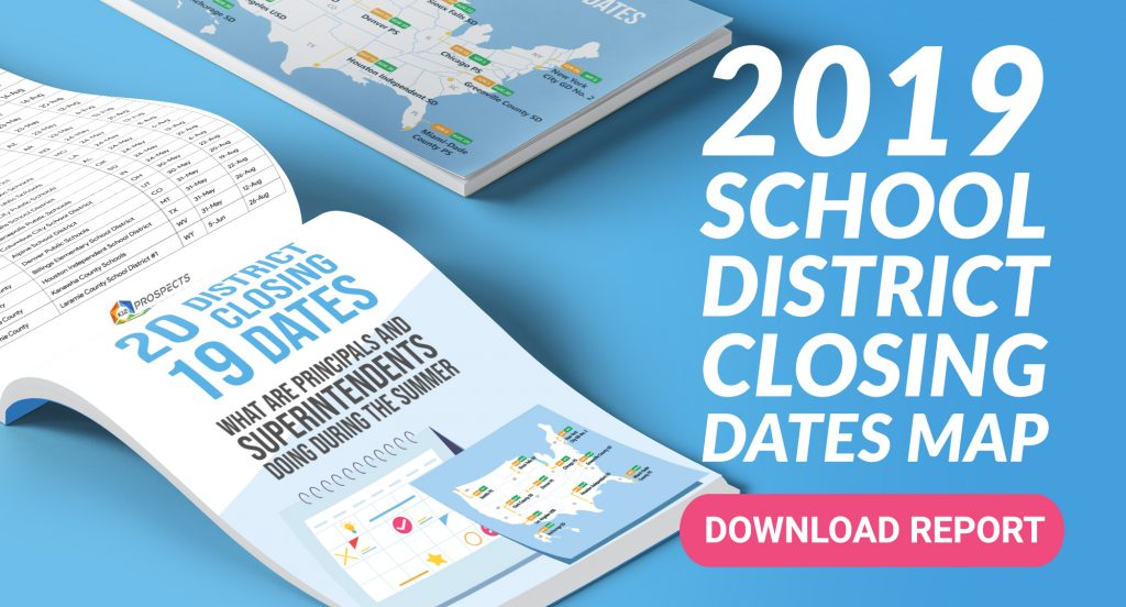 2 - CTA - 2019 School District Closing Dates MAP