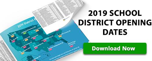 BoxZilla - 2019 School District Opening Dates