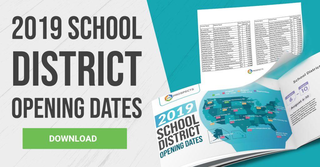 CTA - 2019 School District Opening Dates