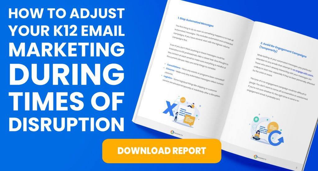 CTA - How to Adjust Your K12 Email Marketing During Times of Disruption