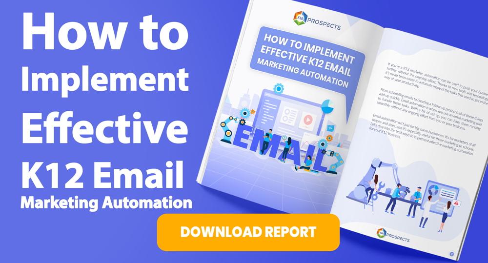 CTA Effective K12 email marketing automation
